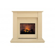 Fireplaces 4 Life Dortmund 48'' Marble Electric Fireplace Suite