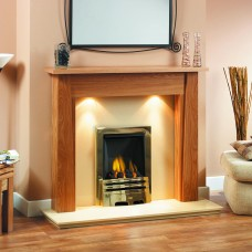 GB Mantels Alderley Oak Fireplace Suite