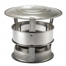 "MI Flues Anti Rain Terminal - 5"" Twinwall Flue (125mm)"