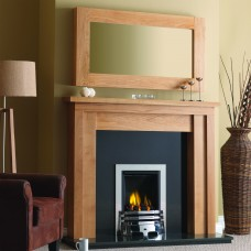 GB Mantels Ashford Oak Fireplace Suite