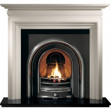 Gallery Asquith Limestone Fireplace with Jubilee Cast Iron Arch