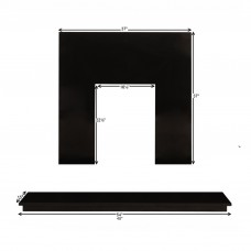 Fireplaces 4 Life Black Granite Back Panel & Hearth