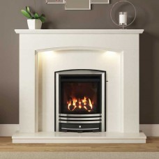 Be Modern Emelia 48'' Marble Fireplace Suite