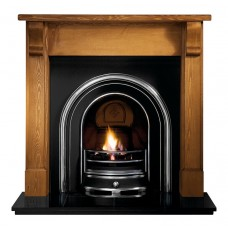 Gallery Bedford Wood Fireplace with Jubilee Cast Iron Arch