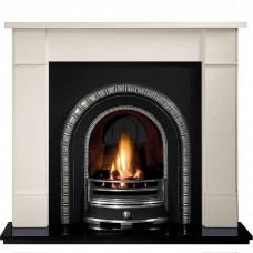 Gallery Brompton Stone Fireplace with Henley Cast Iron Arch