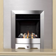 Burley Environ Contemporary Brushed Steel Gas Fire