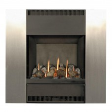 Burley Image Brushed Steel Gas Fire