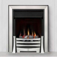 Burley Perception Brushed Steel Gas Fire