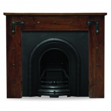 Carron Thakat Acacia & Ce Lux Cast Iron Arch Fireplace Suite