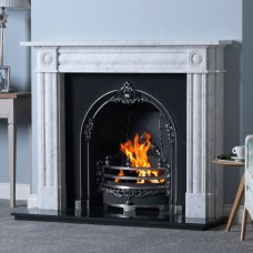 Gallery Chiswick Stone Fireplace with Gloucester Cast Iron Arch