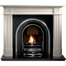 Gallery Chiswick Stone Fireplace with Jubilee Cast Iron Arch