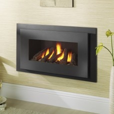 Crystal Fires Miami Glass Fronted Hole in the Wall Gas Fire