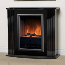 Dimplex Mozart Gloss Black Optiflame® Electric Fireplace Suite
