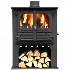 Dunsley Highlander 10 Multi-fuel & Woodburning Log Store Stove