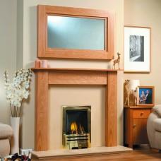 GB Mantels Durham Oak Fireplace Suite
