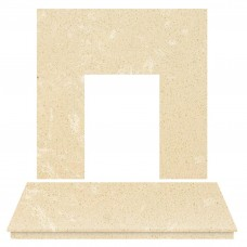 Fireplaces 4 Life Roman Stone Marble Back Panel & Hearth