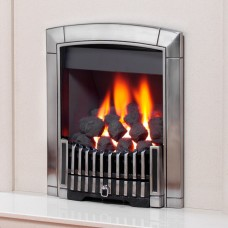 Flavel Caress Contemporary Silver Gas Fire