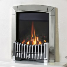 Flavel Caress Contemporary HE Silver Gas Fire