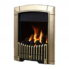 Flavel Caress Plus Contemporary Brass Gas Fire
