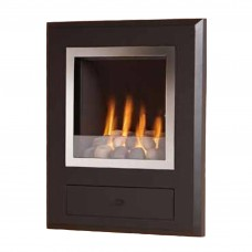 Flavel Finesse Chrome Hole in the Wall Gas Fire