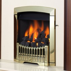 Flavel Rhapsody Brass Gas Fire