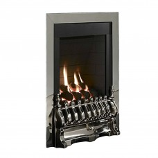 Flavel Windsor Traditional Slimline Inset Silver Gas Fire