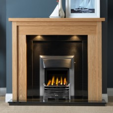 "Gallery Askham 54"" Light Oak Fireplace Suite"