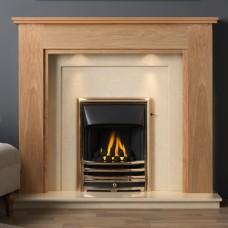 """Gallery Atwick 54"""" Light Oak Fireplace Suite"""
