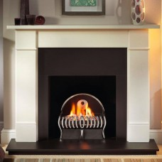 Gallery Brompton Limestone Fireplace Includes Centric Fire Basket