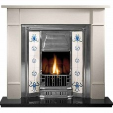 Gallery Brompton Stone Fireplace Includes Prince Cast Iron Insert