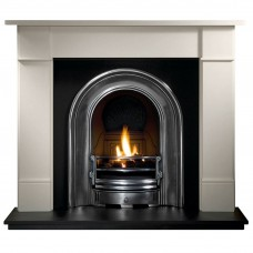 Gallery Brompton Limestone Fireplace Includes Coronet Cast Iron Arch