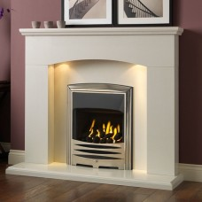 Gallery Cartmel Polar White Marble Fireplace Suite
