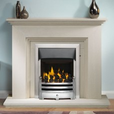 "Gallery Cranbourne 44"" Limestone Fireplace Suite"