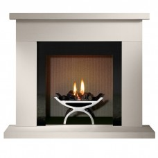 "Gallery Durrington 48"" Stone Fireplace & Optional Pulse Fire Basket"
