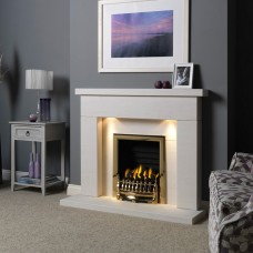 "Gallery Durrington 48"" Limestone Fireplace Suite"