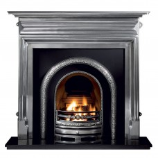 Gallery Palmerston 54'' Cast Iron Fireplace and Lytton Cast Iron Arch