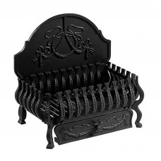Gallery Valencia Black Cast Iron Fire Basket