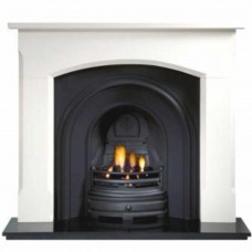 Gallery Woburn Limestone Fireplace Includes Crown Cast Iron Arch