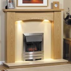 GB Mantels Didsbury Oak Fireplace Suite