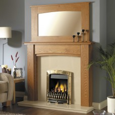 GB Mantels Stonehaven Oak Fireplace Suite