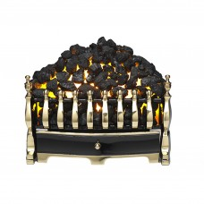 Burley Halstead Brass Electric Fire Basket
