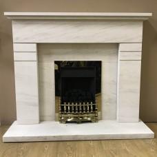 "F4L Hickleton 49"" Limestone Fireplace Suite"
