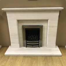 "F4L Brodsworth 48"" Limestone Fireplace Suite"