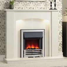 "Be Modern Somerton 48"" Marble Fireplace Suite"