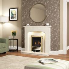 "Be Modern Tasmin 42"" Micro Marble Fireplace Suite"