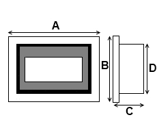Wall Mounted Fire Dimensions